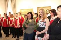 Výstava obrazů Evy Šinkmanové.