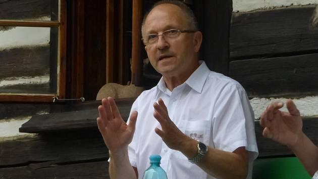 Beseda s Jaromírem Kubů na Šolcově statku.