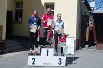 Novopacká běžkyně Jana Mikešová zvítězila na trati Vrchlabí – Strážné.