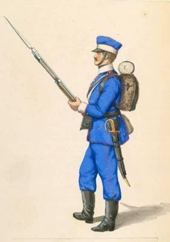 Saský voják.