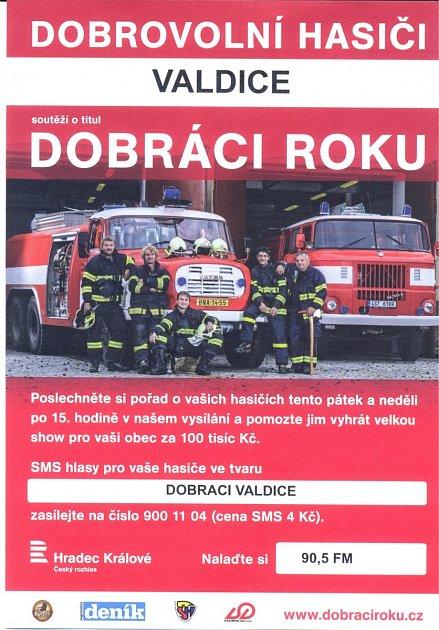 Hlasujte pro valdické hasiče.