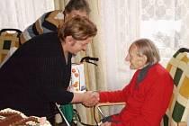 Stoletá Eva Kreibigová z Mlázovic.