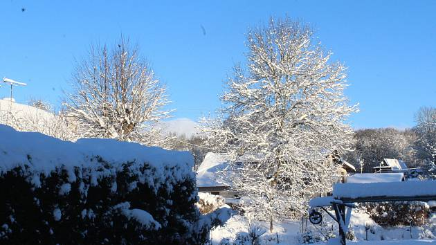 Kouzelná zima na Novopacku.