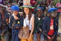 Iveta Pešatová v Kongu.