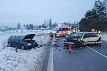 Střet dvou automobilů u Vidochova.