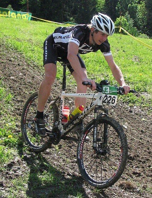 Dan Polman na závodě v rakouském Schladmingu - sjezd do cíle.
