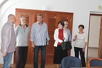 Z tiskové konference o vstupu Jičína do Geoparku Český ráj.