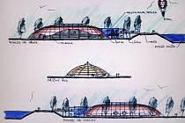 Projekt zastřešení jičínského zimního stadionu.