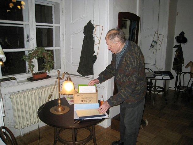 Z návštěvy Svatopluka Krále v jičínském muzeu.