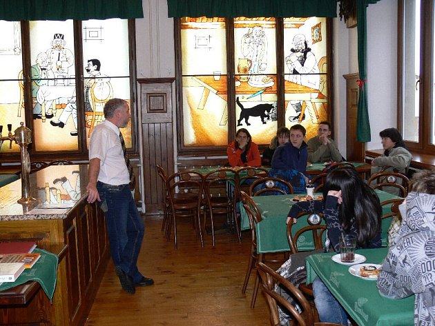 Ze dne otevřených dveří SŠ gastronomie a služeb.