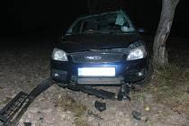 Nehoda fordu u Pšánek.