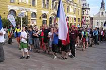 SLAVNOSTNÍ NÁSTUP české výpravy. Atmosféra mistrovství světa je neopakovatelná.