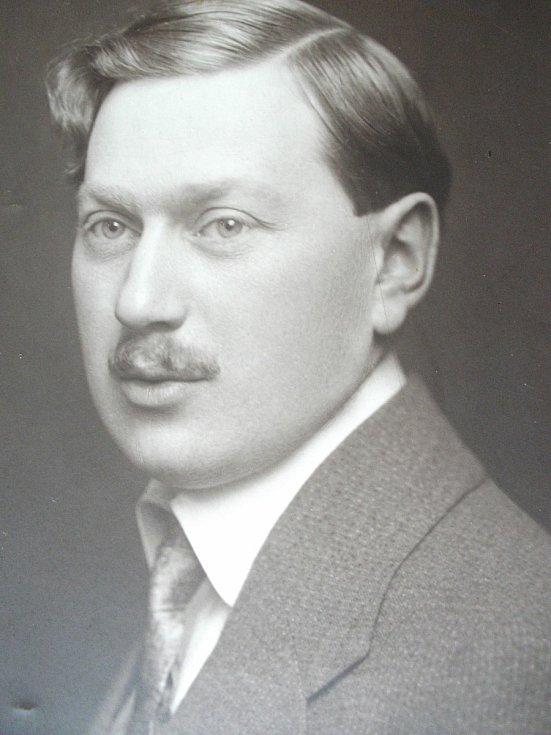 Tatínek Josef Beer majitel továrny. Foto: Paměti národa Východní Čechy