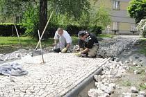 Revitalizace náměstí Míru ve Valdicích.