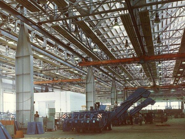 Pohled do výrobního areálu.