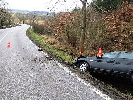 Řidička narazila do stromu