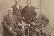 Bratři Knotkové, zleva Antonín, Václav, Josef a František.