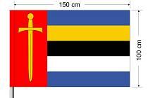 Vlajka Milovic u Hořic.