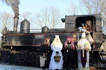 Mikulášský parní vlak.