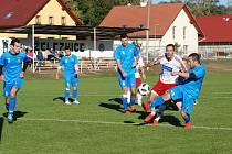 Fotbalová I. B třída, duel skupiny A: Železnice - Kocbeře 0:0, pen 4:1.