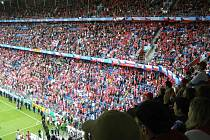 Basilej ve Švýcarsku; utkání Česko - Švýcarsko zhlédla také výprava fanoušků z Nové Paky.