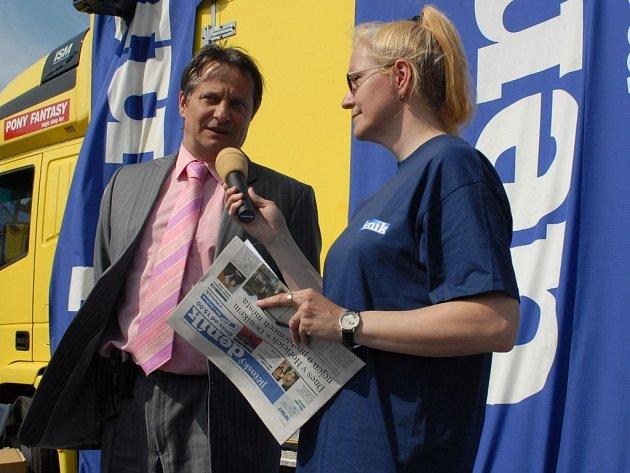 Hořický starosta Ivan Doležal odpovídal na otázky Aleny Kaňkové.