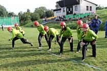 Setkání a soutěž hasičů pod Kumburkem.