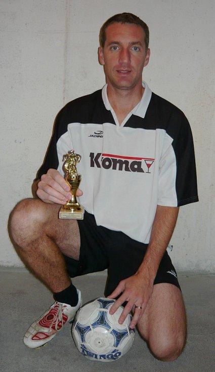 Nejlepší střelec tohoto ročníku nereligy Martin Petrgál (Šenkýři).