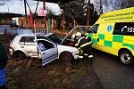 Řidič po nehodě u Svatojánského Újezdu skončil v péči záchranářů.