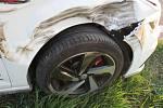 Dopravní nehodu nedaleko Vojic způsobilo uvolněné kolo z nákladního vozidla.