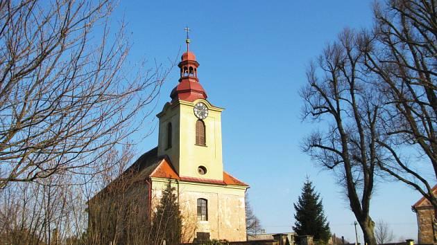 Kostel sv. Maři Magdaleny v Lužanech.