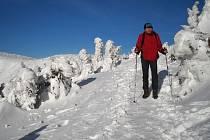 Ivan Pírko při zimním putování.