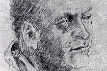 František Škoda - portrét Josefa Bucka, přibližně rok 1985.