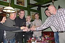 Oslava vítězství ODS v Jičíně v restauraci Hotelu Jičín.
