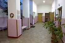 Interiér nové budovy školy Obchodní akademie Hořice.