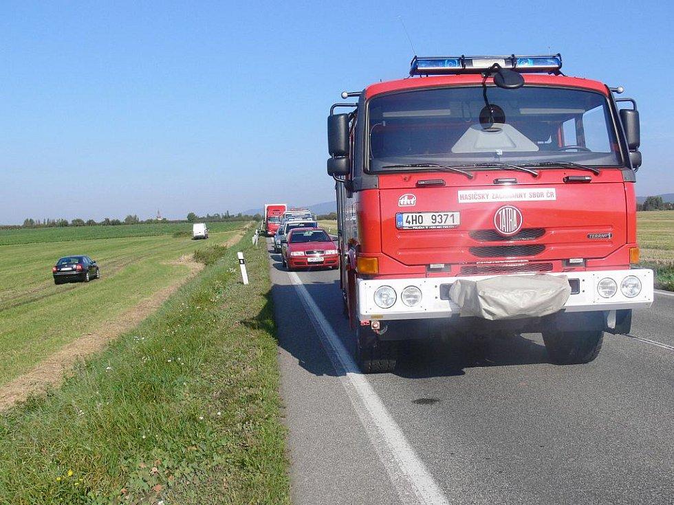 Tragická dopravní nehoda u Úlibic.