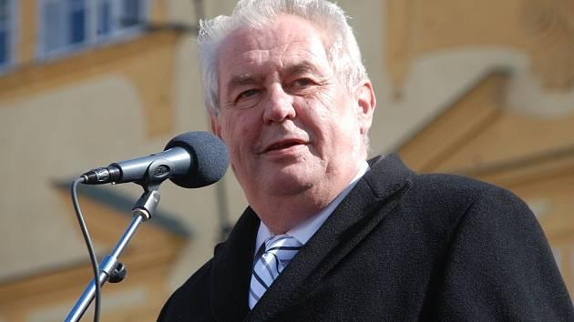 Prezident Miloš Zeman v Jičíně.