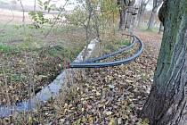 Začátek budování kanalizace v Soudné.