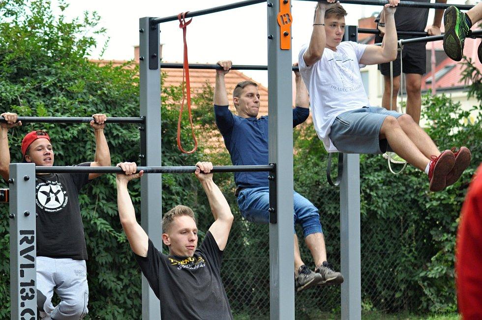 Vybavení nového workoutového parku v Hořicích vybízí k nepřebernému množství cviků. Jak na to? Neváhejte a přijďte na terénink.