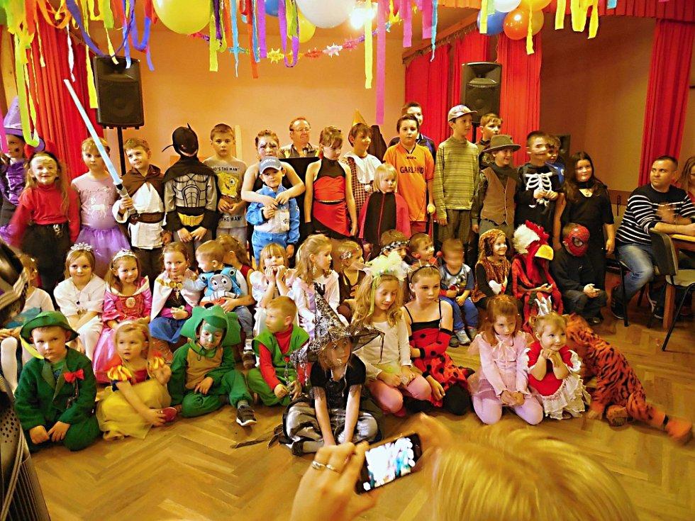 Dětský karneval v Bystřici.