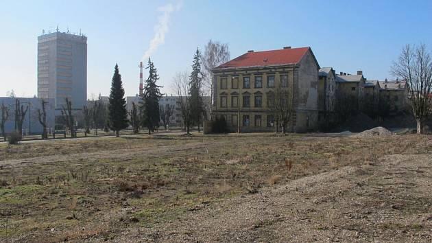 Lokalita kasárna v Jičíně.