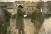 Prezident Masaryk v Jičíně roku 1921.