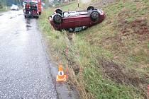Nehoda fabie v Roškopově.