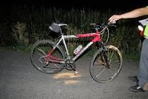 Nehoda cyklilsty u Sobotky.