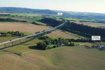 Vizualizace trasy přeložky I/35 přes Český ráj