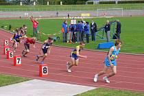 Radek Malý při mistrovství republiky jednotlivců, kde startoval v běhu na 800 metrů.
