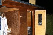 Sauna v Robousích, kde zemřely dvě ženy.