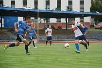 FOTBALISTÉ Jičína přesvědčivě postoupili do druhého kola Poháru KFS. Na snímku přátelské utkání týmu proti diviznímu Turnovu.