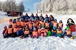 Děti si svůj první lyžařský výcvik náležitě užily.