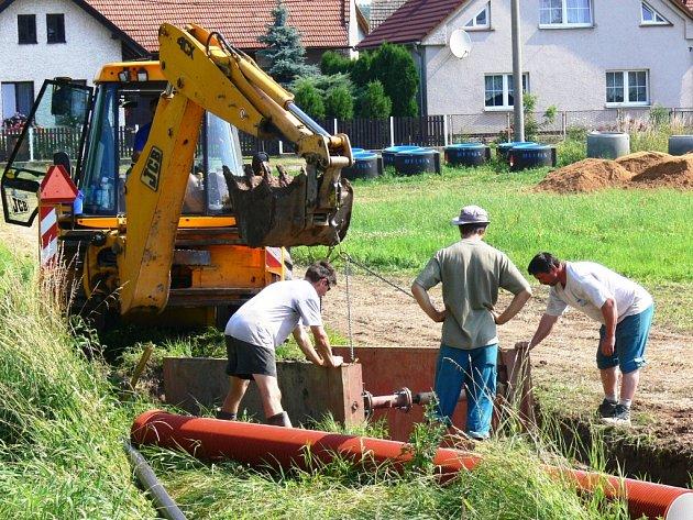 Vitiněves - budování kanalizace